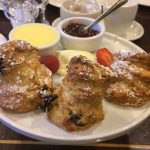 Irish breakfast at Davenport hotel: scones, butter, jam, and clotted cream!