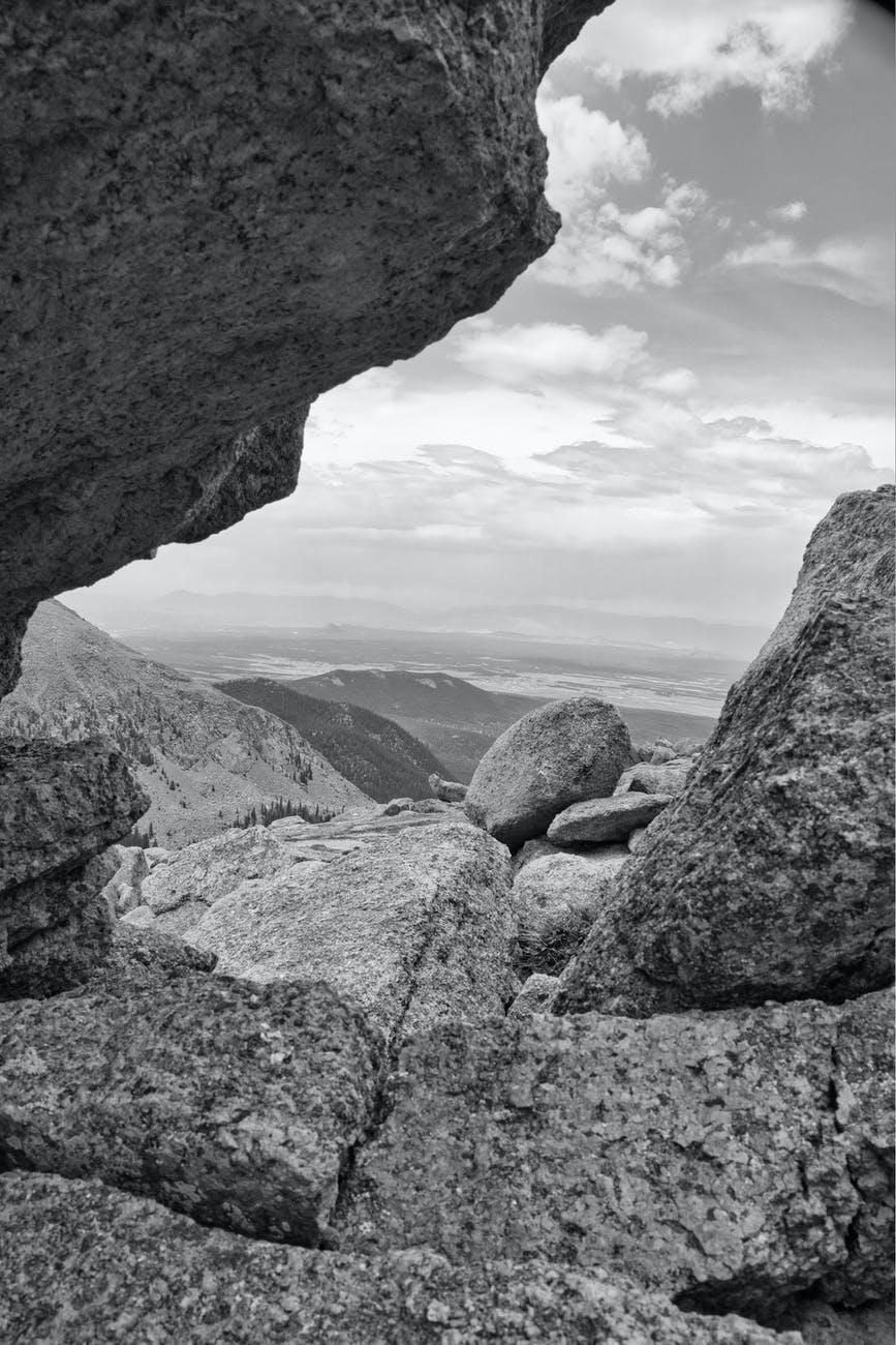 landscape water summer cliff